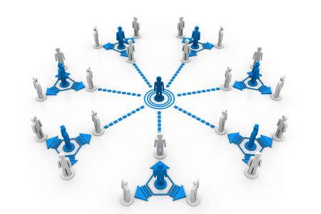 rete di computer: connessione di rete aziendale gruppi