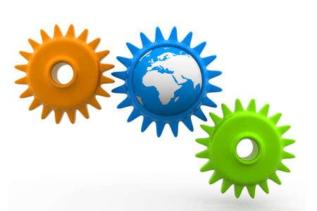 exactness: world globes mechanism Stock Photo