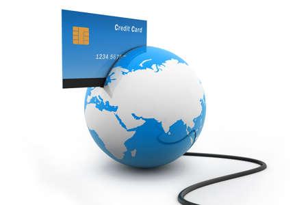 international sales: Online payments concept