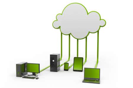synchronizing: Cloud computing Stock Photo