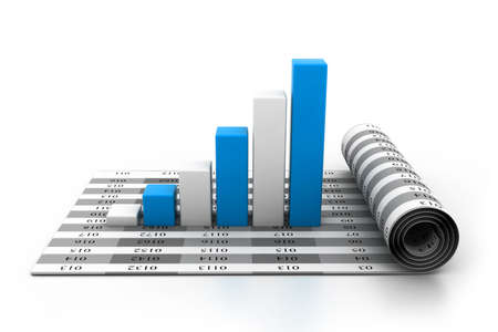 income market: Business graph on chart Stock Photo