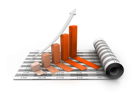 Business graph Stock Photo - 23418200