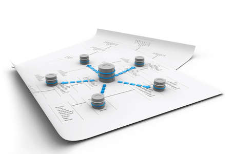 data distribution: Databases concept  Stock Photo