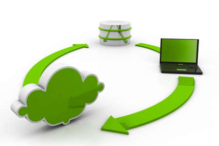 accessing: Cloud computing concept Stock Photo
