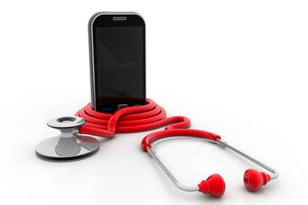 Stethoscope With Mobile Phone