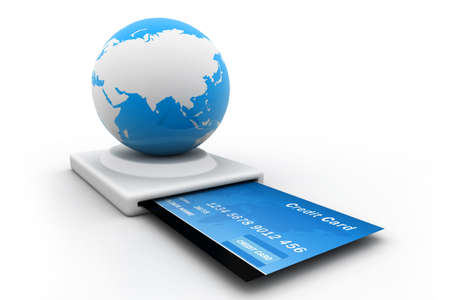 online purchase: Online Credit Card Purchase Stock Photo