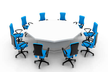 conference table: conference table and chairs