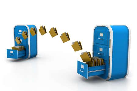 file cabinet: File transfer