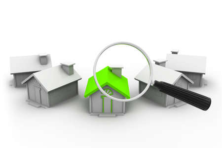 residential market: House search Stock Photo