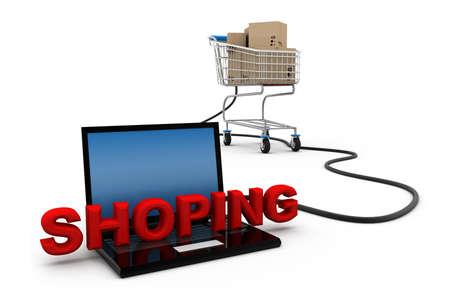 e store: Shopping online Stock Photo