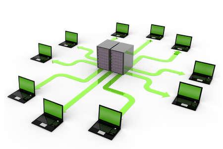 rete di computer: Computer di rete Archivio Fotografico