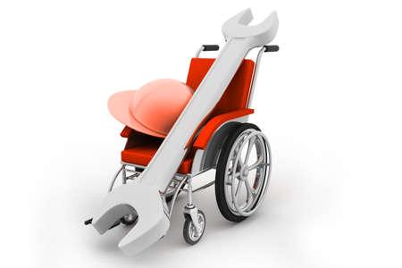 helmet seat: Wheelchair Stock Photo
