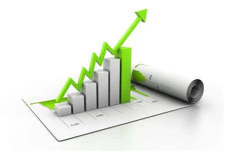 financial gains: Business graph Stock Photo