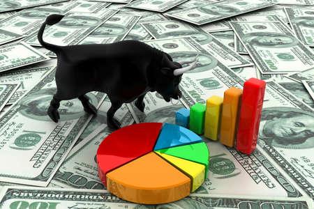 bull market: Bull market Stock Photo