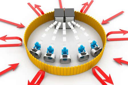 e recruitment: Secure computer network