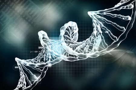 raytrace: Digital illustration of DNA