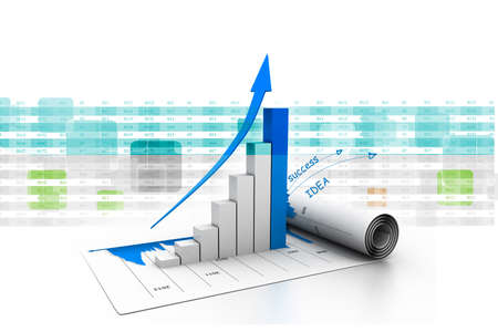 Business graph Foto de archivo