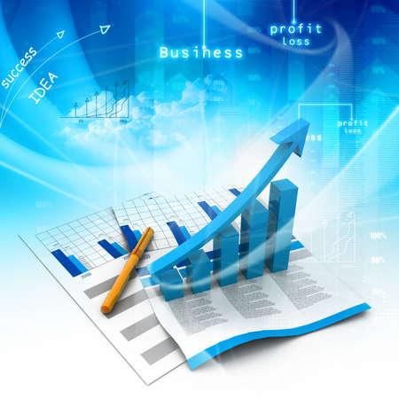 Gráfico de negocio Foto de archivo - 25286618