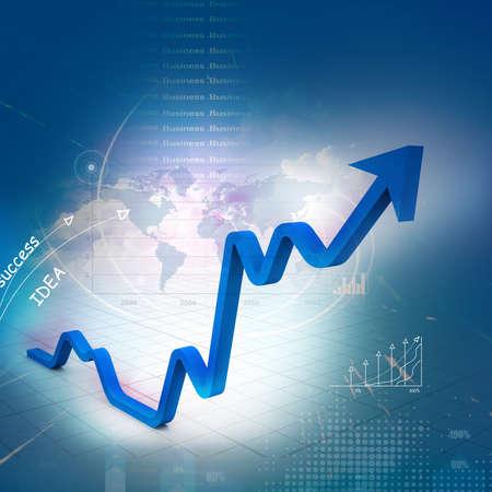 Business graph Stok Fotoğraf