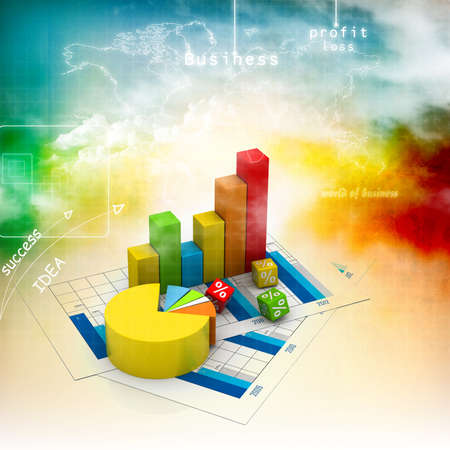 Business graph in abstract background Foto de archivo
