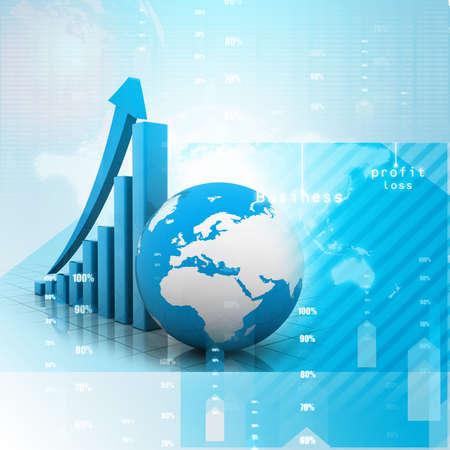 Digital illustration of business chart Stok Fotoğraf