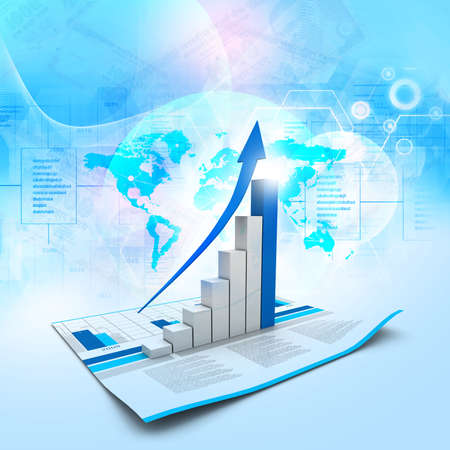 finance report: Business graph Stock Photo