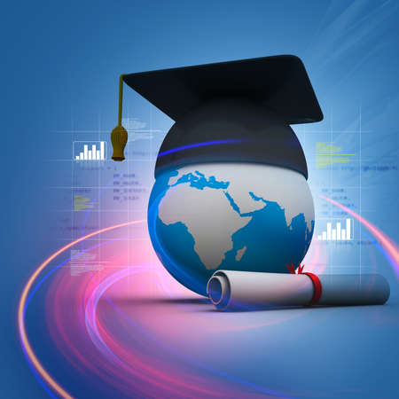 mortar cap: Global education
