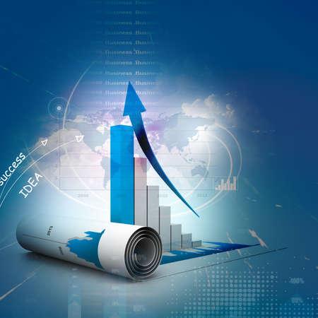 Business-Grafik Standard-Bild