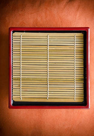 Japanese Style Bamboo Tray Stock Photo - 9200357