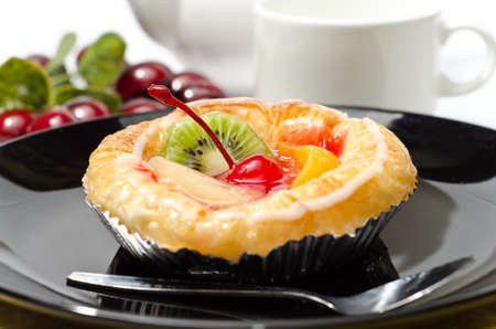 puff: Fresh Fruit Danish Stock Photo