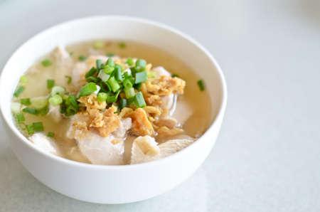 Fish boiled rice photo