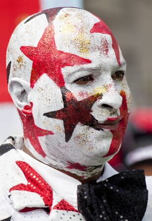Man with stars on his face from the Minstrel Carnival in South Africa Editorial