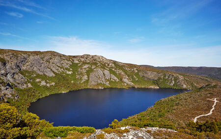 Alpine Lake on Overland Trail, Cradle Mountain - Lake St  Clair National Park, Tasmania, Australia Stock Photo