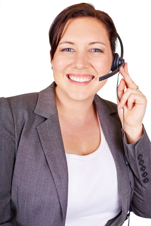 Attractive call centre female assistant
