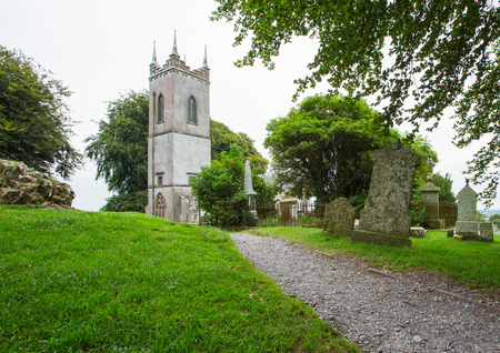 Quaint historical church in countryside Ireland Stock Photo