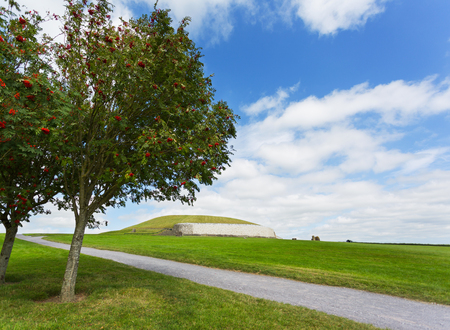 Newgrange monument Stock Photo