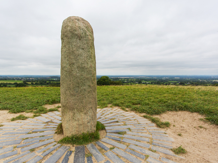 Stone Monument at the Hill of Tara Stock Photo