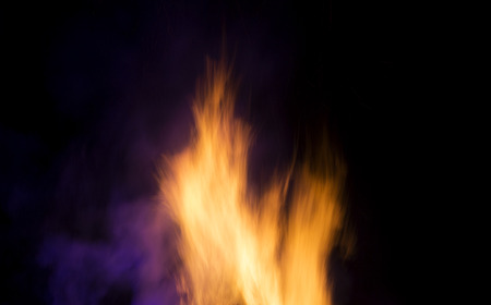 Blurred flames with pink and purple highlights
