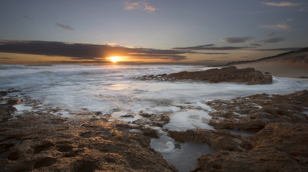 The rugged Australian coastline in Victoria Stock Photo