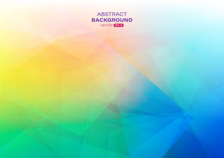 Colorful gradient abstract background with geometric shape composition. Vector illustration