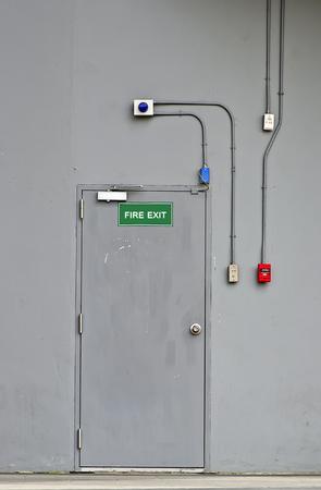 Fire exit door at department store photo