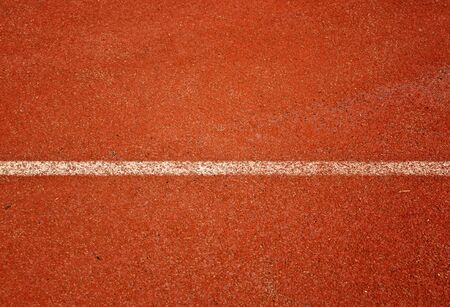 athlete: Close up running track for the athletes background Stock Photo