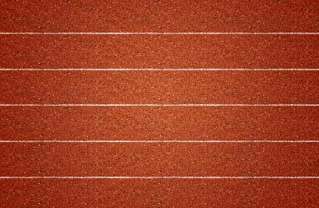 pista de atletismo: Pista de atletismo en la vista superior. Foto de archivo