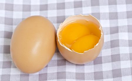 yolks: Twin eggs,two yolks in one.