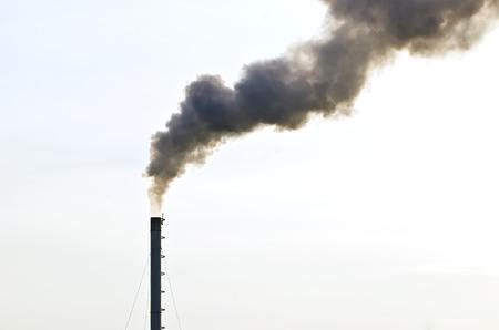 dirty: Dirty smoke from smokestrack on white background