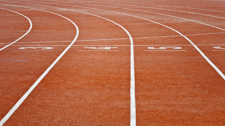 Athletics running track lane with number