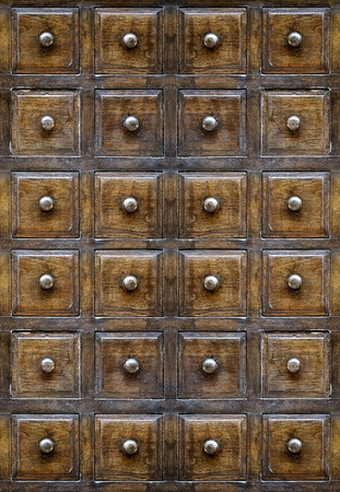 drawers: Vintage wooden drawers. Stock Photo