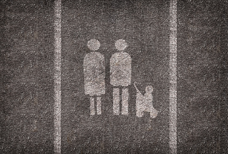 sopping: A symbol parking spot  intended only for families.