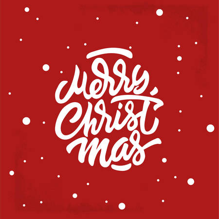Merry Christmas Hand Lettering Inscription to Winter Holiday Design, calligraphy vector illustration - Vector Stock Illustratie