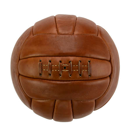 Vintage Football / Soccer Ball Isolated Photograph on White Background - Image